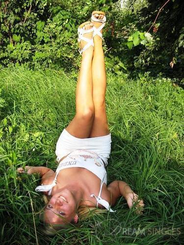 Blond girl fulfilling every man039s dream
